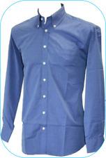 """Para Hombres Camisa Manga Larga Azul por Simon Jersey Botones 14"""" Collar De Bolsillo Nuevo"""