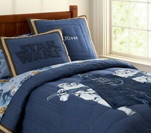 NEW Pottery Barn Star Wars Darth Vader Storm Troopers Twin Quilt Comforter
