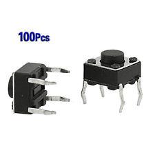 100 6x6x4.5mm PCB momentaneo tattile tatto interruttore a pressione 4 Pin DIP HK
