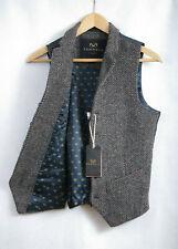 P243/L01 Cedar Wood State Classic Elegant Tweed Brown Waistcoat, size 34