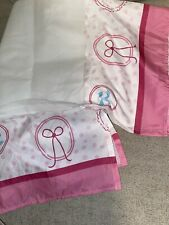 Disney Baby White and Pink Print Bows Dust Toddler Bed Skirt