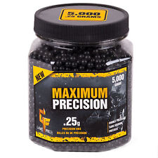 .25g Game Face Airsoft Maximum Precision Black Airsoft BBs (5000ct) 25GPB5J