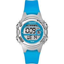 Timex Kids Marathon Digital Wrist Watch Chronograph Quartz Blue Resin Strap