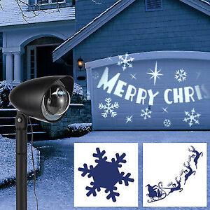 LED Licht - Projektor 3 Motive Erdspieß Spot Leuchte innen und außen ultrahell