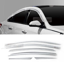 Chrome Window Sun Vent Visor Rain Guards 6P C568 For HYUNDAI 2018 Sonata i45