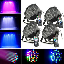 4* 36W DMX 512 PAR RGB LED Flat Par Light Bühnenbeleuchtung 7 Steuerkanäle Licht