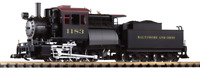 Piko 38245, G Scale, B&O Camelback 0-6-0 Locomotive w/DCC/Smoke/Sound/Lights