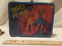 """RARE-VINTAGE 1980 """"DISCO FEVER"""" METAL LUNCH BOX BY KING SEELEY"""