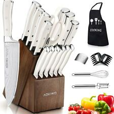 22Pcs Kitchen Knife Set with Block Wooden Germany High Carbon Stainless Steel