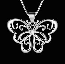 Halskette 925 Sterlingsilber Schmetterling Anhänger Butterfly herz Insekt 38