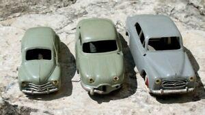 3 voitures les miniatures de norev made in france