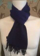 PS BY PAUL SMITH  FLAG STRIPE SCARF IN NAVY AND BLUE BNWT