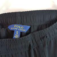 [ RALPH LAUREN ]  Polo Womens Black Drawstring Pants    Size XL or AU 16 / US 12