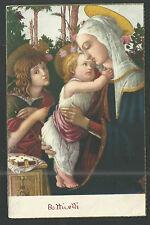 Postal antigua Jesus y Ssn Juan Bautista andachtsbild santino holy card santini