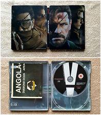 Steelbook Metal Gear Solid 5 + bonus b-ray + carte / tbé / rare / envoi gratuit