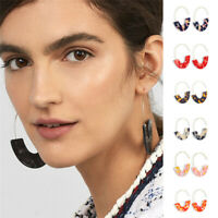 Trendy Acrylic Tortoise Shell Earring Round Circle Resin Hoop Earrings For Lady