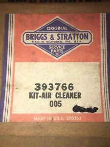 Briggs & Stratton # 393766 Air Cleaner Kit OEM NOS NIB