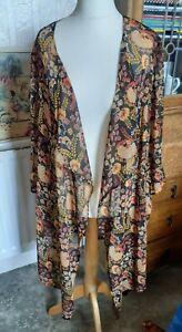 Sheer  ANTHOLOGY Kimono Size 20 Floral Print Summer Beach Chiffon Cover Up