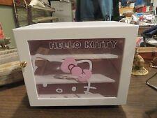 Vintage Hello Kitty Sanrio Pink Wood Storage Trinket Cabinet Jewelry Box Rare
