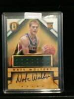 F6470  2013-14 Panini Gold Standard #229 Nate Wolters JSY AUTO RC
