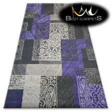 "AMAZING RUGS ""BOLOGNA"" purple, grey, rectangles, modern designs carpet"
