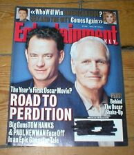 ENTERTAINMENT WEEKLY mag TOM HANKS PAUL NEWMAN David Arquette Liza Minnelli 2002