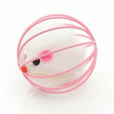 Cat's Funny Playing Toy Fake Mouse in Cage Ball Cats Interactive Accessories#^