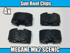 4x CLIPS FOR RENAULT MEGANE Mk2 SCENIC Mk2 SUNROOF REPAIR KIT CLIP BLACK PLASTIC