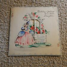 Vintage Birthday Card, Hallmark 15 B887-3, from 1944, DAUGHTER Southern Bell