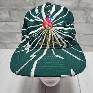 Vintage 1996 Atlanta Olympic Games Collection Starter Snapback Hat Cap Green