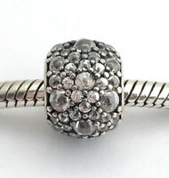 Authentic Pandora Shimmering Droplets, Clear CZ Charm, 791755CZ, New
