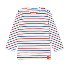 """Kule iconic """"The Classic"""" red white blue striped t-shirt top XS extra small $118"""