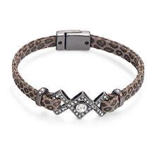 Gunmetal Snake Skin Look Bracelet