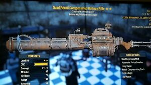 Quad Explosive Railway Rifle  Fallout 76 PS4