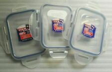 3x Lock and & Lock Food Storage Container Rectangular LIDS fits HPL819 & others