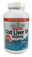 Natures Aid Cod Liver Oil (High Strength) 1000mg- 180 Softgels