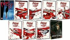 FRIDAY THE 13TH COMPLETE MOVIE COLLECTION  DVD set Part 1 2 3 4 5 6 7 8 9 box UK