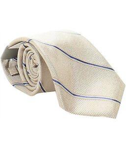 NWT Michael Kors Mens Gold Stripe Self-tied Necktie Tie MA1104