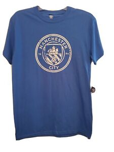 Icon Sports Manchester City T-Shirt, Licensed Short-Sleeve Crewneck Size (Small)