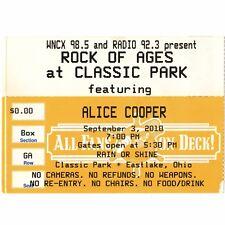 ALICE COOPER Concert Ticket Stub EASTLAKE OH 9/3/10 FEED MY FRANKENSTEIN Rare