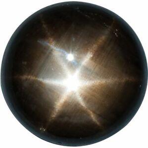 Natural Fine Black Star Sapphire - Round Cabochon - AAA Grade - Unheated, Untrea