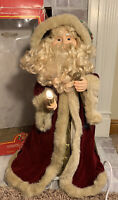 """VTG Animated SANTA CLAUS Lighted Motion-ettes Father Christmas 24"""" Belsnickel"""