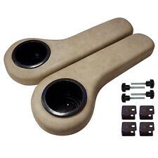 Golf Cart Rear Seat Arm Rest Drink Holder Set/STONE BEIGE/Universal/EZ Go RXV