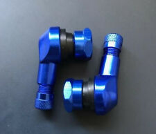 YAMAHA XJ900S DIVERSION 1994-02 BLUE 90 DEGREE ALUMINIUM TYRE VALVE STEMS PAIR