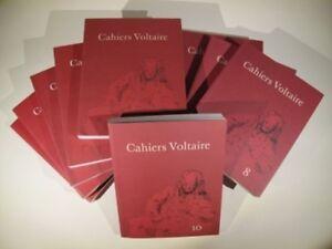 Cahiers Voltaire 1 à 15, les quinze premiers volumes