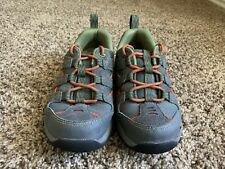 Ll Bean Boy's Hiking Trail Lace-Up Sneakers, Grey Orange Green, size 2