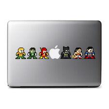 8-Bit Retro Justice League Decals Set for MacBook Pro, DELL, iPhone 8 Plus