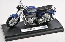 BLITZ VERSAND BMW 75/5 blau / blue Welly Motorrad Modell 1:18 NEU & OVP