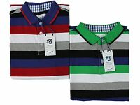 Mens Big Size Polo T Shirt Kam Casual Wear in 2 Colours Stripes