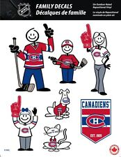 NHL MONTREAL CANADIENS STICK PEOPLE FAMILY DECALS ~ FULL COLOR VINYL DECALS